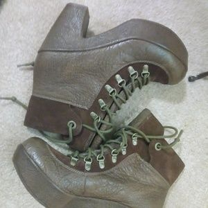 Kork Ease Genuine Leather Booties